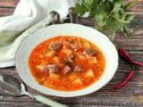 Суп с говядиной и булгуром